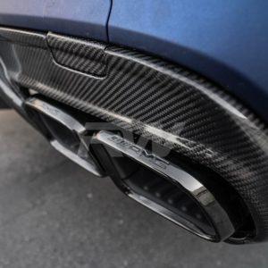 rwcarbon dtm carbon fiber rear diffuser for w205 c63 c63s AMG