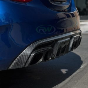 RWCarbon BRS carbon fiber diffuser for the W205 C63 C63s AMG