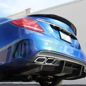 RWCarbon carbon fiber GTX rear diffuser for the W205 C63 C63s AMG