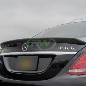 RWCarbon carbon fiber DTM trunk spoiler for the W205 C63 C63s AMG